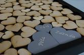 Svatební rám dvě samostatná srdce
