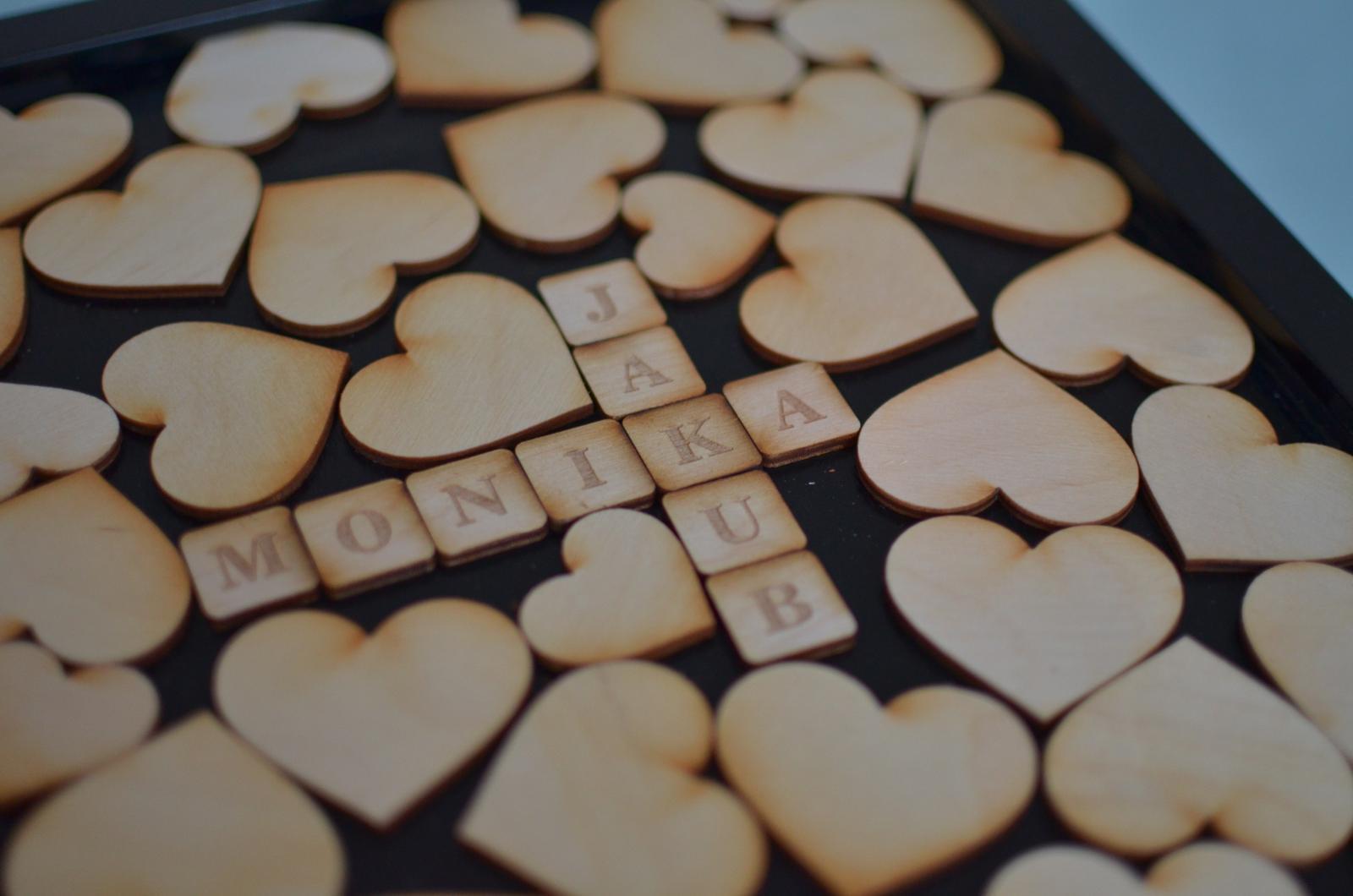 Moje práce - weddart - Svatební rám srabble