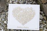 Svatební rám bílé srdce