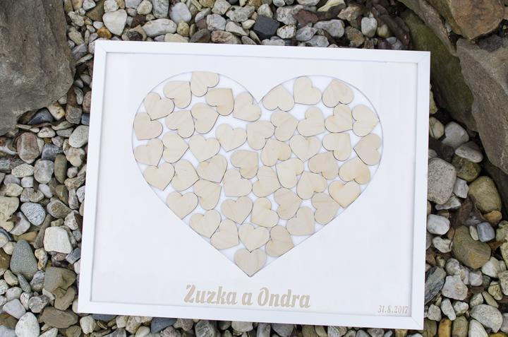 Moje práce - weddart - Svatební rám bílé srdce