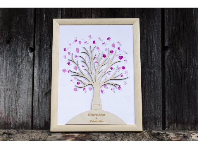 Moje práce - weddart - Svatební strom dřevěný