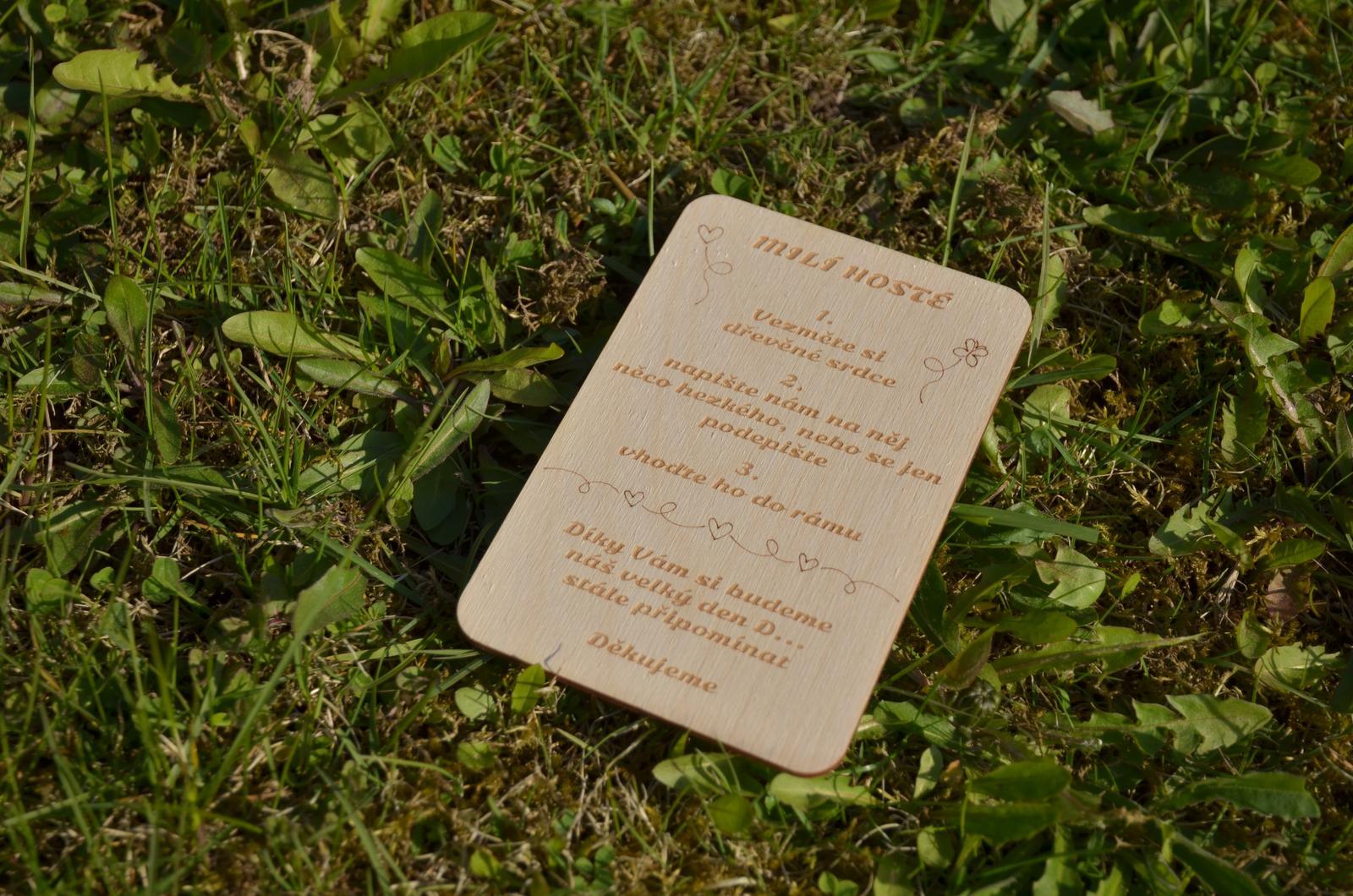 Moje práce - weddart - Novinka na přání - dřevěný návod k svatebnímu rámu
