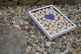 Svatební rám fialové srdce