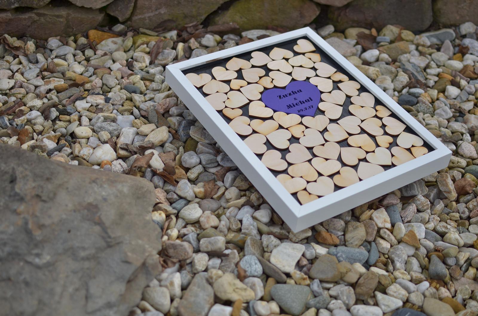 Moje práce - weddart - Svatební rám fialové srdce