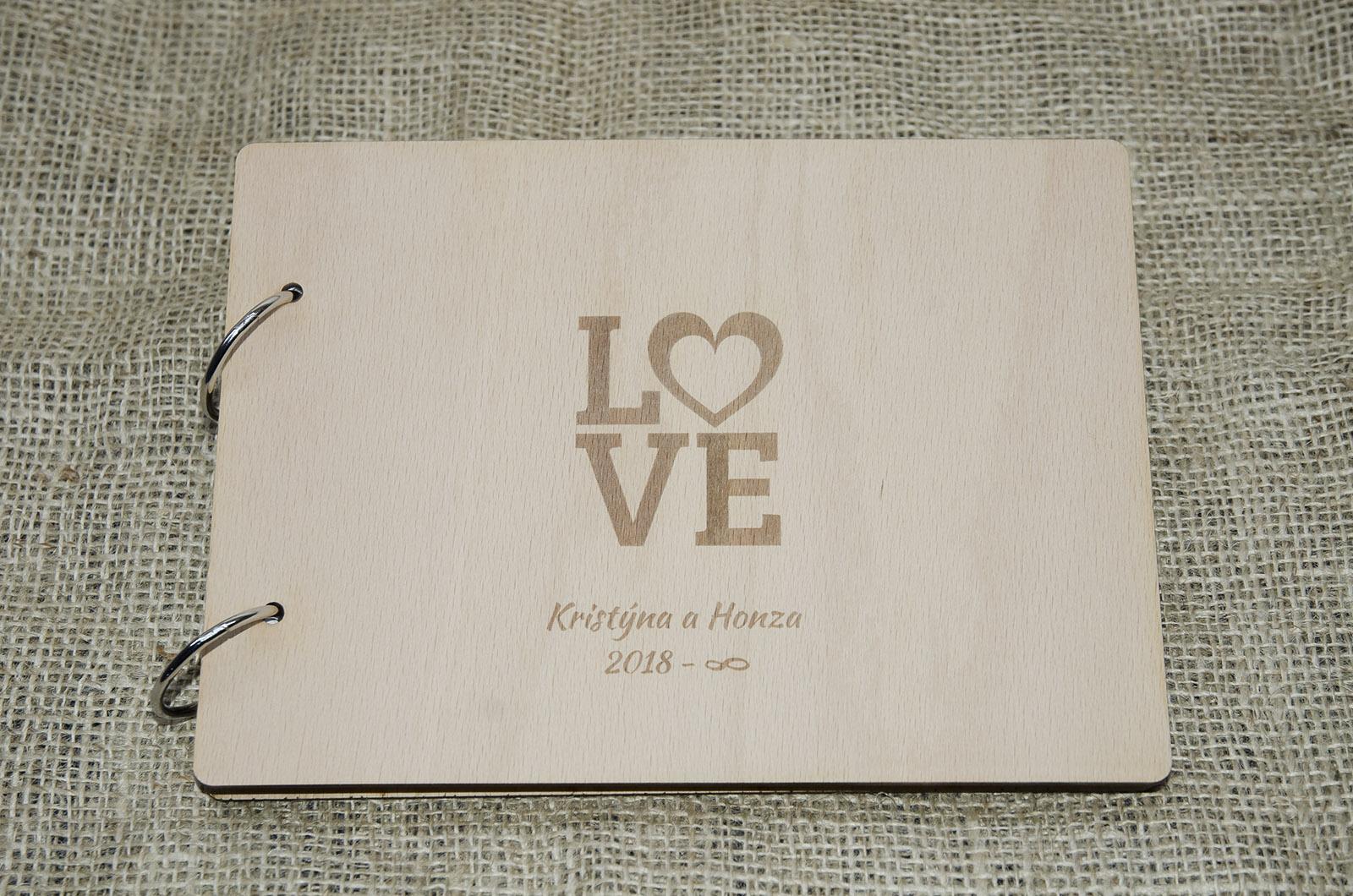 Novinka - dřevěné svatební knihy a fotoalba - Obrázek č. 2