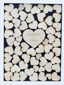 Svatební rám srdce - varianta přírodní,