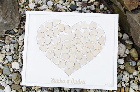 Svatební rám - srdce - Obrázek č. 1
