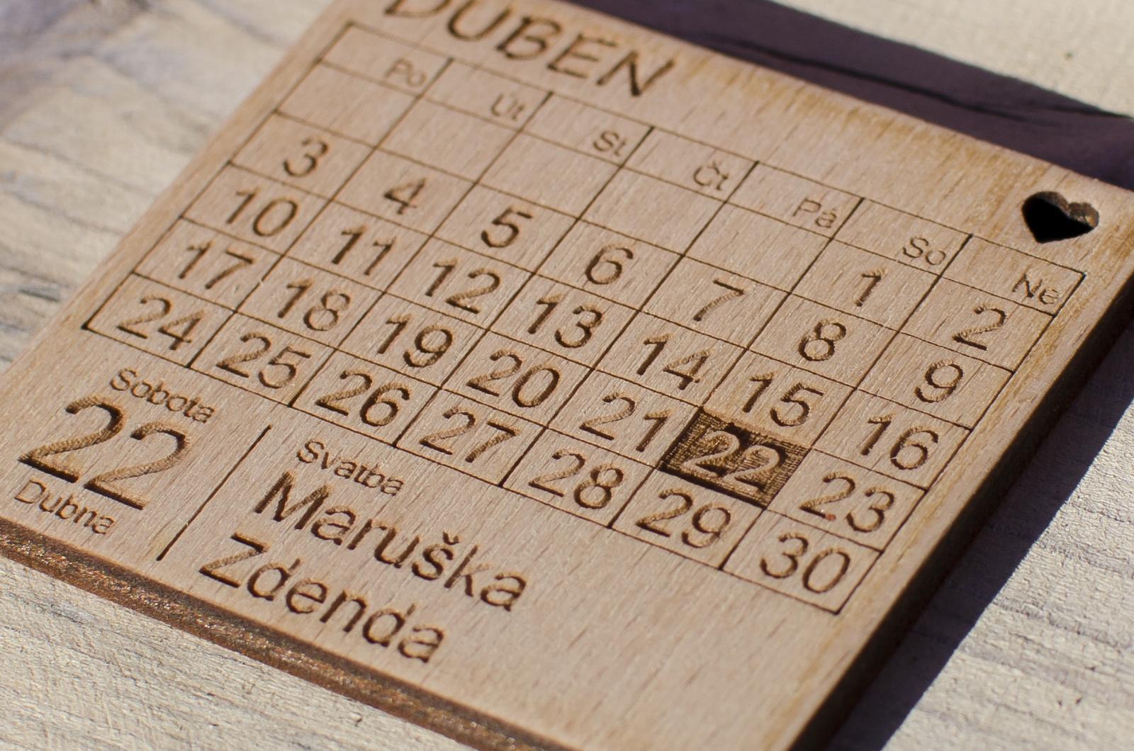Dřevěné svatební oznámení - magnet - Obrázek č. 4