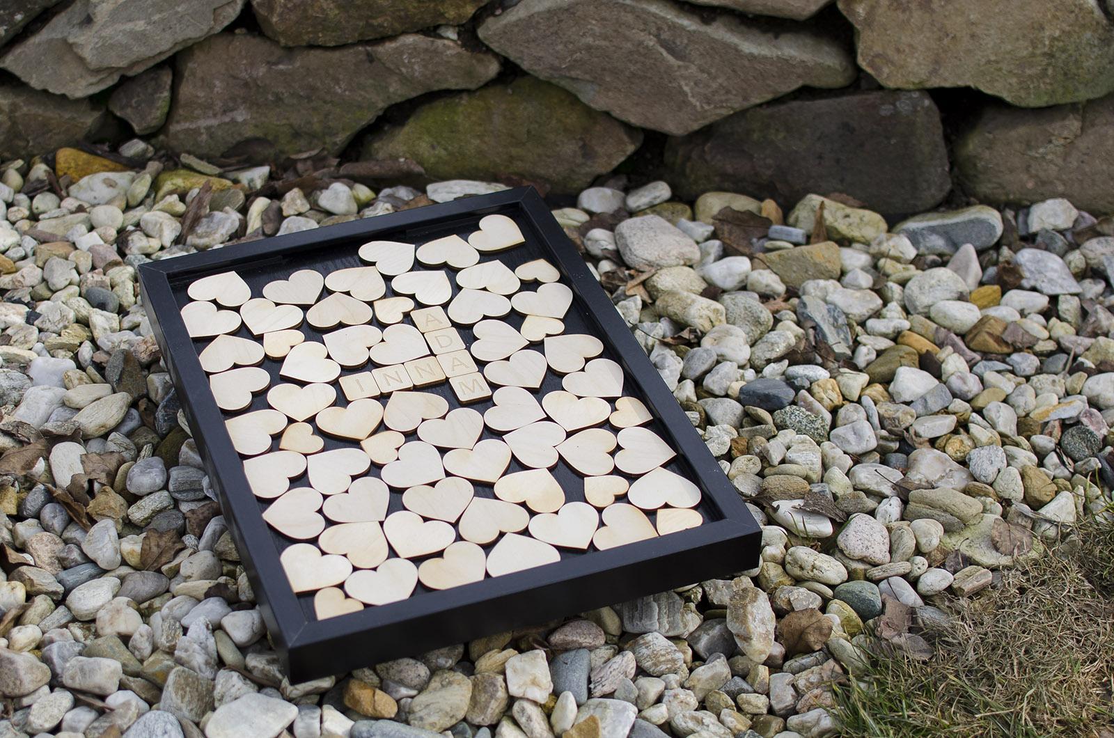 Svatební rám srabble - černý rám - Obrázek č. 1