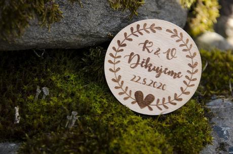 Svatební magnetka DĚKUJEME - Obrázek č. 1