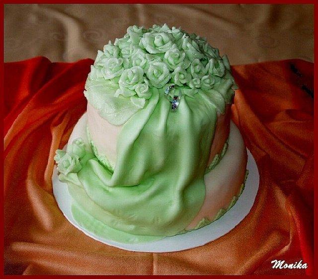 Žofia a Michal 25.4.2009 a ich pripravy :-)) - torta do zelena 2.