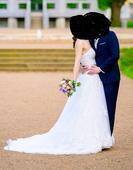 Romantické krajkové svatební šaty s vlečkou, 40
