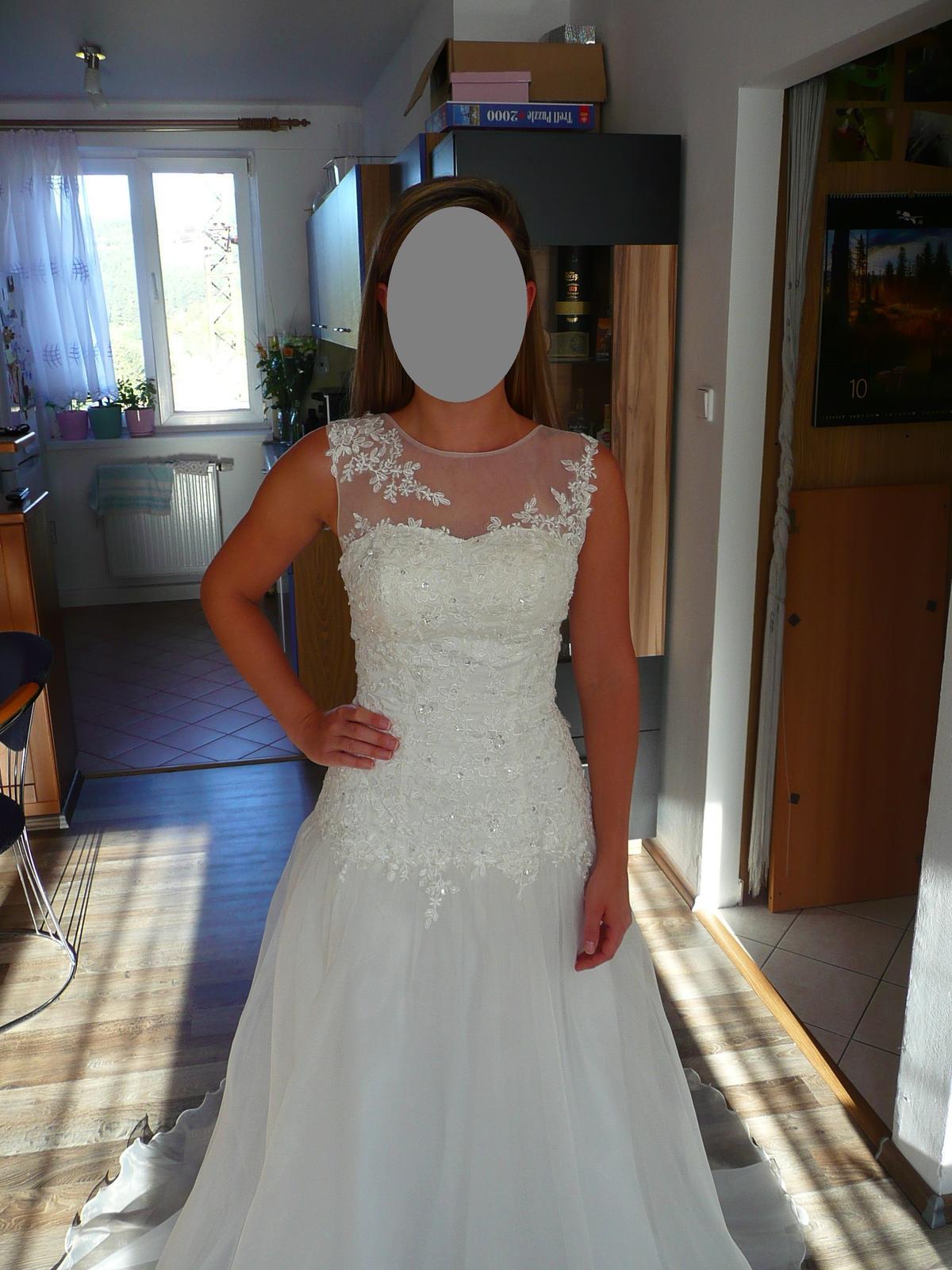 Svatební šaty s originálním dekoltem 36-40 - Obrázek č. 4