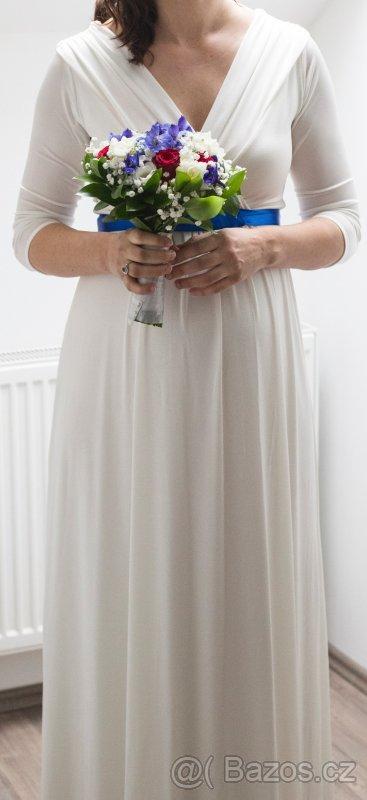 Těhotenské svatební šaty Tiffany Rose - Obrázek č. 2