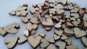 dřevěná mini srdíčka - 100ks,
