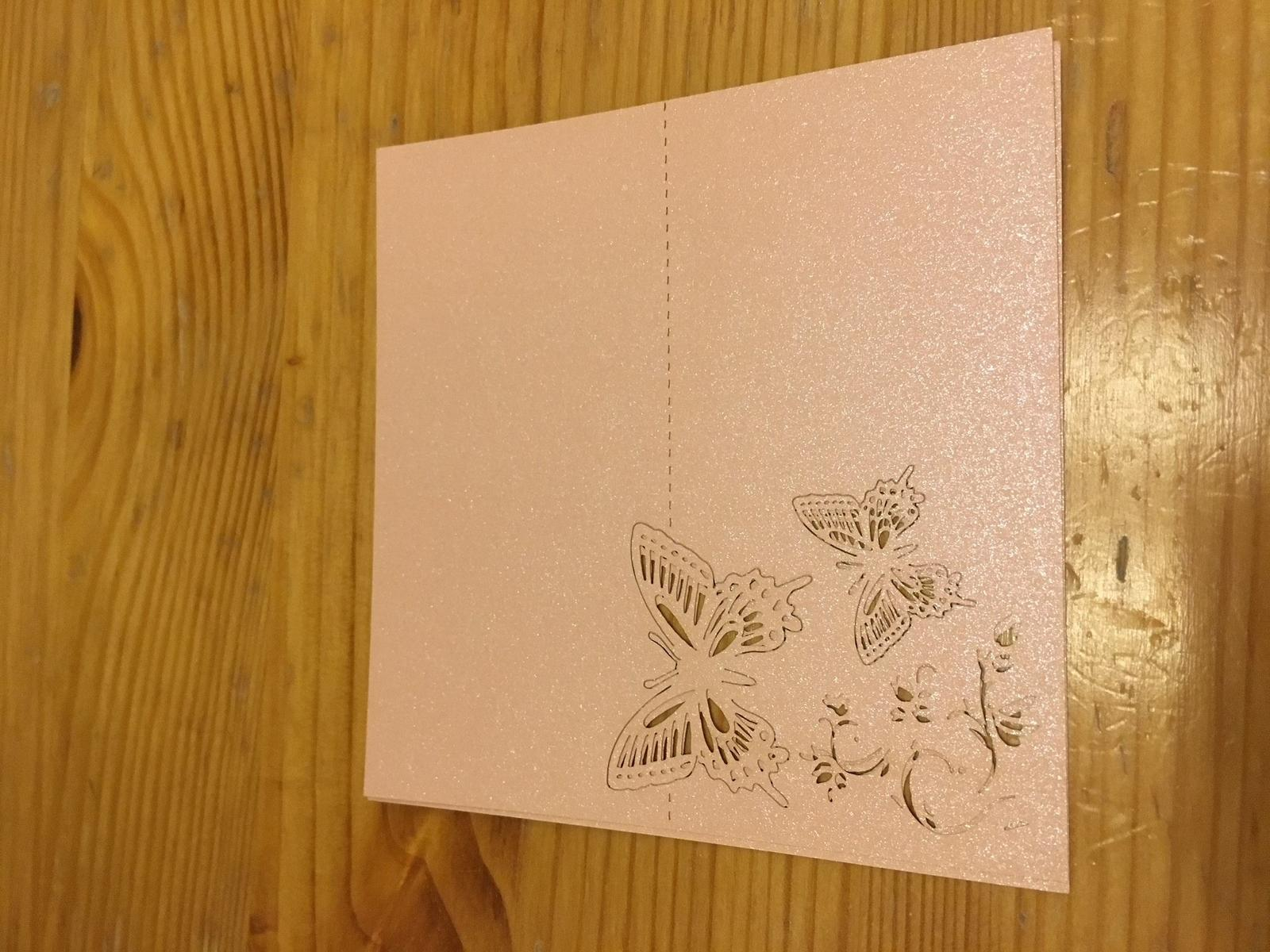Jmenovky na stůl, růžové třpytivé - Obrázek č. 1