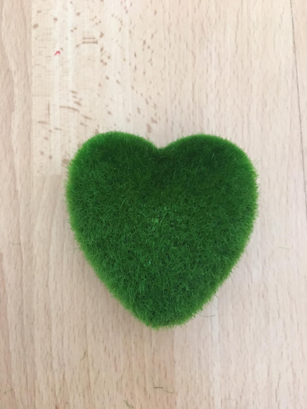 Umělý mech ve tvaru srdce - Obrázek č. 1