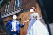 Svadobné šaty so srdiečkovým výstrihom veľkosť 36, 36