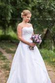 Taftové svatební šaty - včetně spodnice, 36