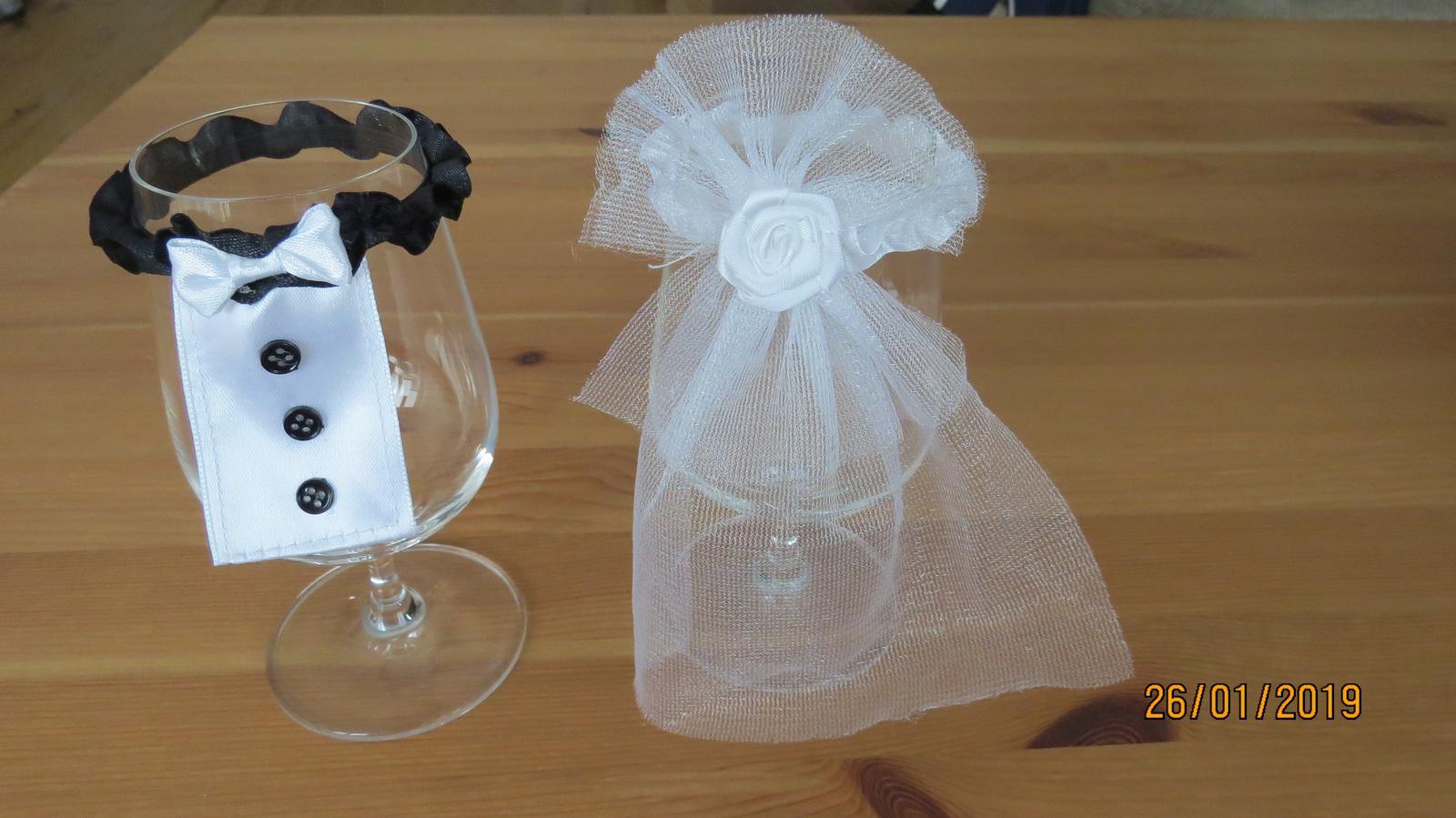 Ozdoby na svadobné poháre - Obrázok č. 1