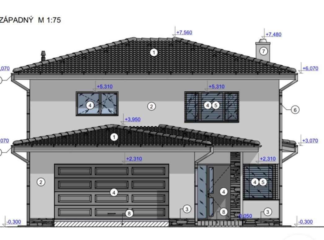 """Pracovný názov - """"Rodinný dom s dvojgarážou"""" - Obrázok č. 4"""