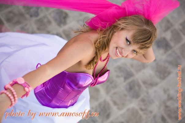 Nevšední, originální, barevné svatby!!!!! - ruzovo-fialova
