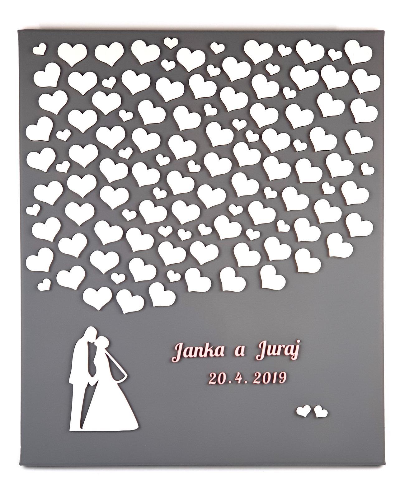 Svatební plátno jako kniha hostů pro Váš jedinečný den - Obrázek č. 1