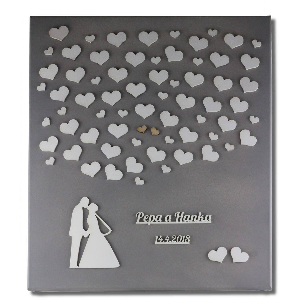 Svatební plátno jako kniha hostů pro Váš jedinečný den - Obrázek č. 3