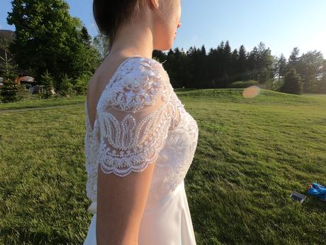 Svatební šaty Kabelkové Oplocké vel. 32/34 - Obrázek č. 1