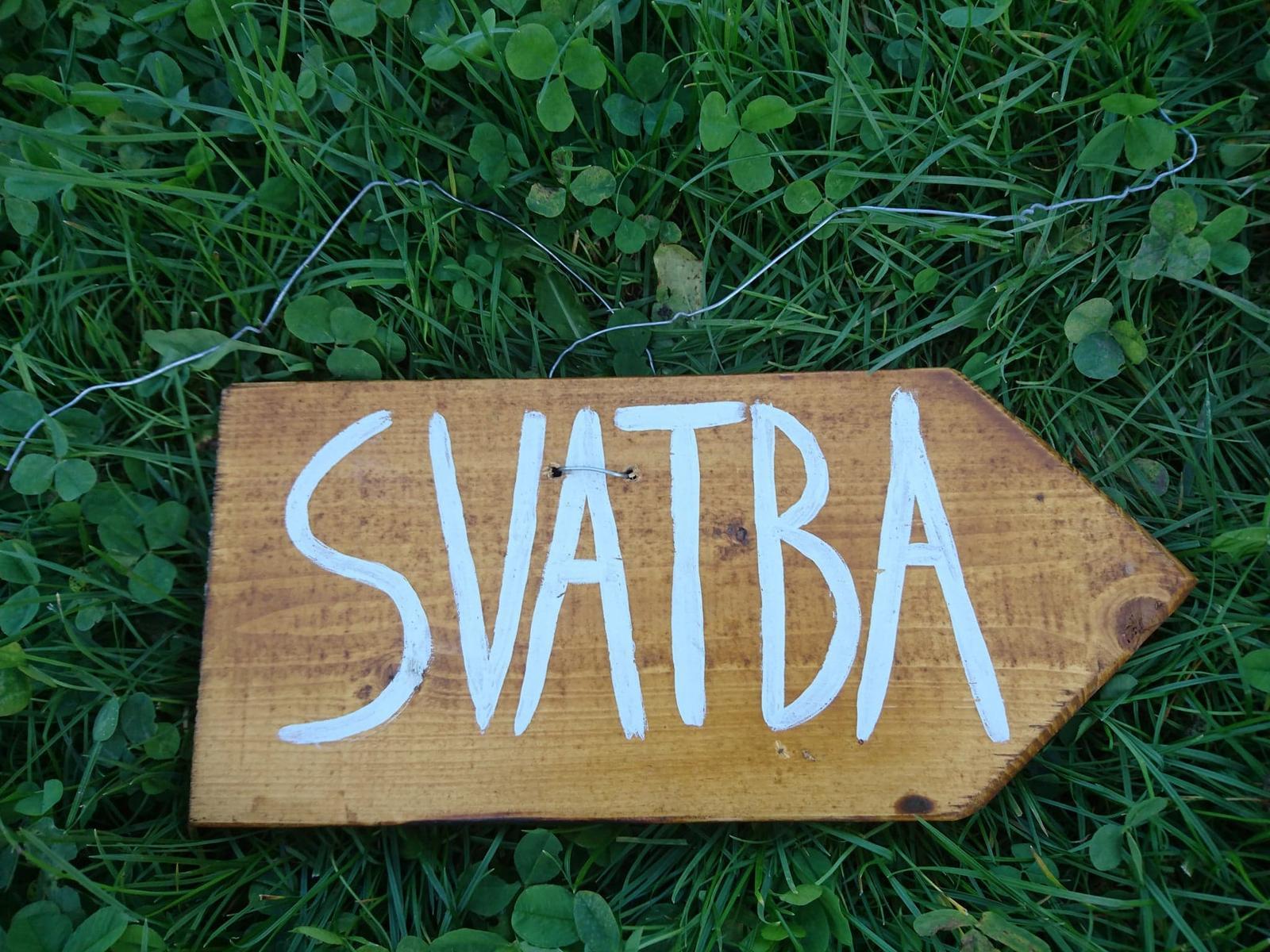 cedule ukazatel SVATBA - Obrázek č. 1