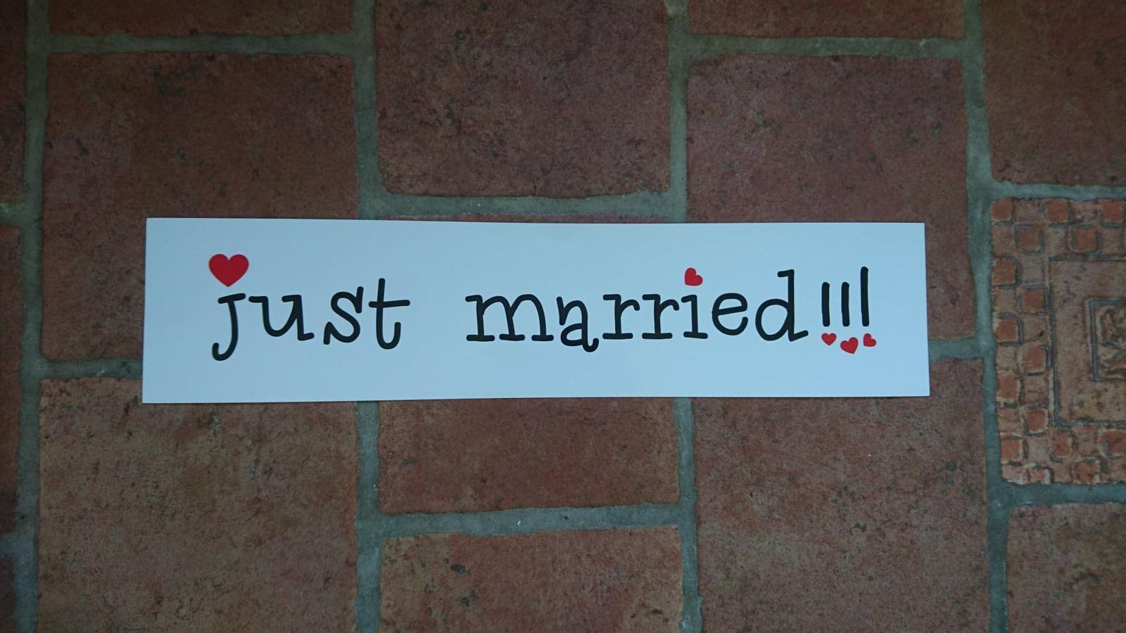 SPZ Just married (nebo cedule) - Obrázek č. 1