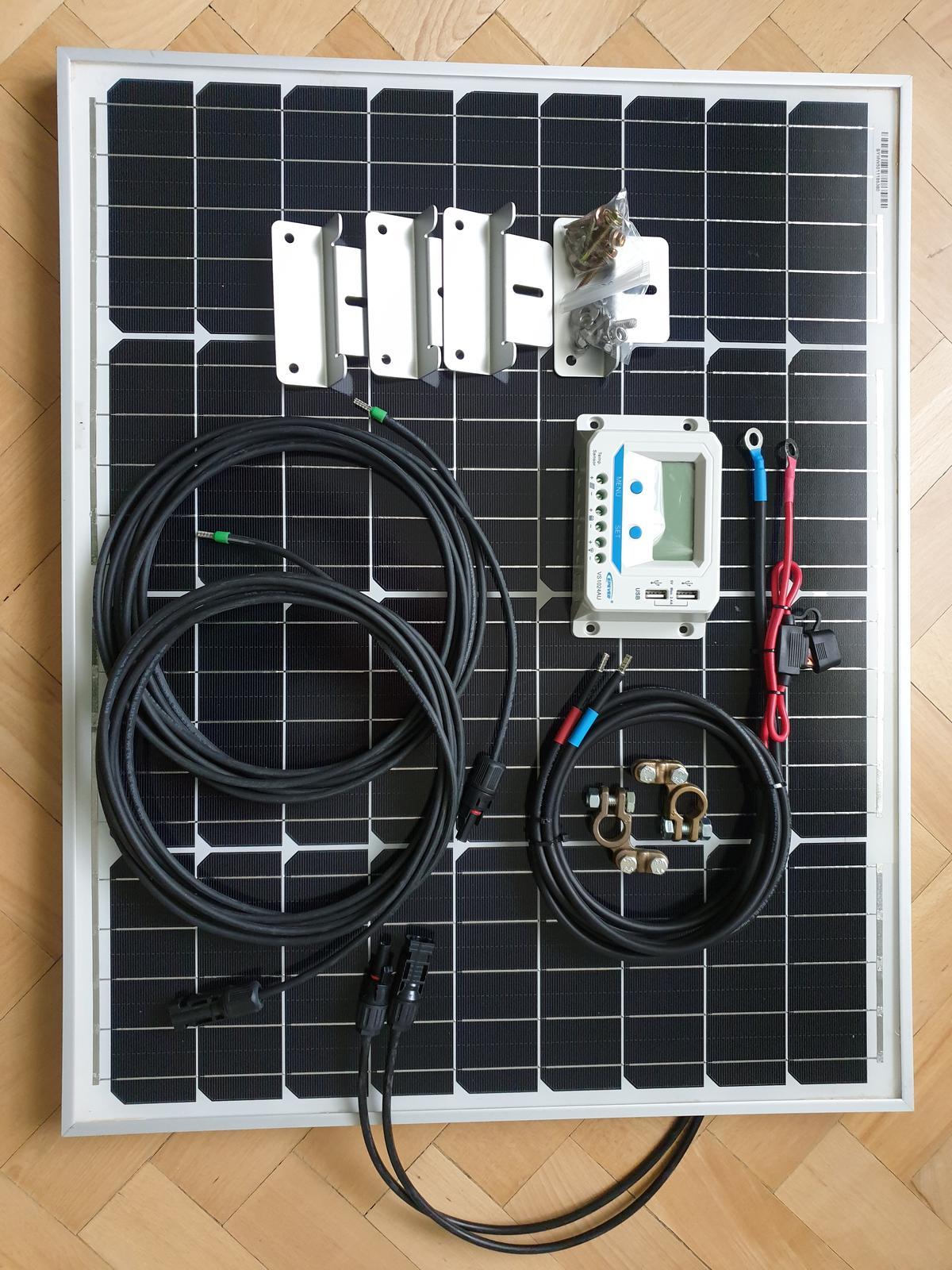 50W solárny panel s regulátorom - kompletná sada na chatu - Obrázok č. 1