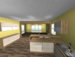 kuchyně+obývací pokoj