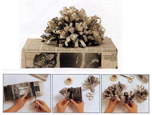 Recyklované a iné nápady ♻ - načo baliaci papier?! leták zo schránky stačí....