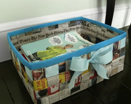Recyklované a iné nápady ♻ - http://www.craftstylish.com/item/47658/the-times-they-are-a-changing-how-to-make-a-basket-from-a-newspaper