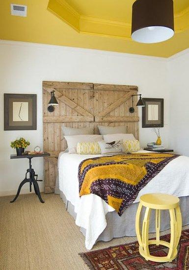 Recyklované a iné nápady ♻ - čelo postele môžte nahradiť asi už čímkolvek ✂