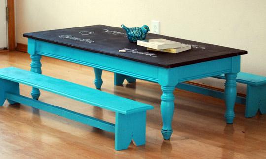Recyklované a iné nápady ♻ - obnovený stôl pre deti