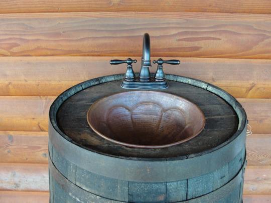 Recyklované a iné nápady ♻ - záhradné umývadlo zo suda