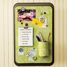 message center - z hliníkoveho plechu, plechovky, štuplov od piva :)