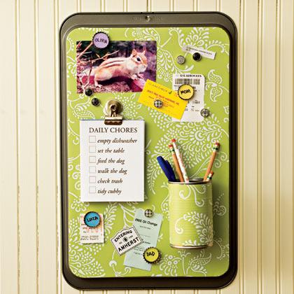 Recyklované a iné nápady ♻ - message center - z hliníkoveho plechu, plechovky, štuplov od piva :)
