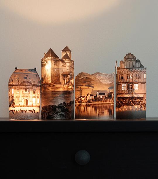 Recyklované a iné nápady ♻ - http://fellowfellow.com/diy-houses-by-night/