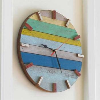Recyklované a iné nápady ♻ - hodiny z kuskov dreva
