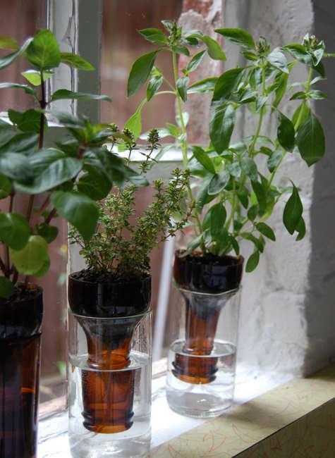 Recyklované a iné nápady ♻ - samozavlažovacie kvetináče :)