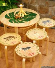 zrecyklujte si staré stoličky + videonávod/////// http://www.marthastewart.com/266587/stenciled-stool-tops?center=0&gallery=274789&slide=266587#
