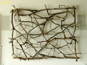 originálny obraz z konárov /////http://greigedesign.blogspot.com/2011/06/organic-art-by-paul-schick.html
