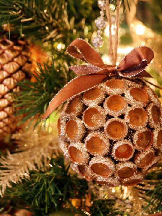Natural christmas (aké dekorácie si môžeš vyrobiť sama:) ☃ - hlavičky z dubových žaluďov :)