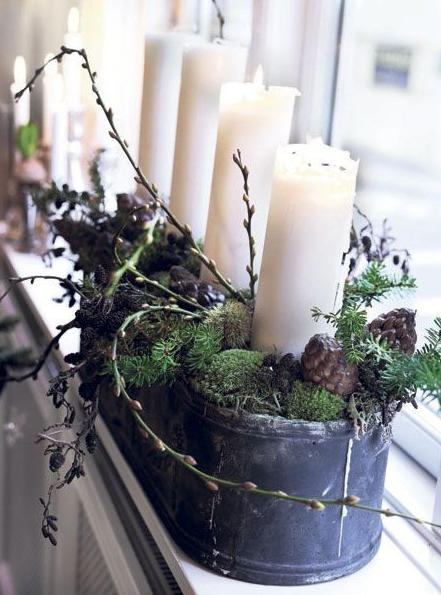 Natural christmas (aké dekorácie si môžeš vyrobiť sama:) ☃ - atypický adventný svietnik