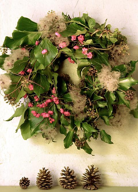 Natural christmas (aké dekorácie si môžeš vyrobiť sama:) ☃ - Veniec z lístia