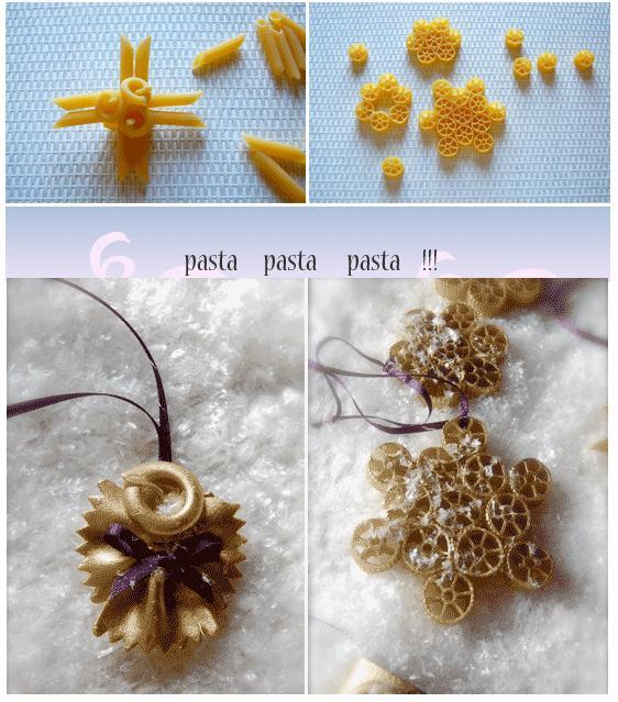 Natural christmas (aké dekorácie si môžeš vyrobiť sama:) ☃ - cestovinky :)