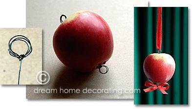 Natural christmas (aké dekorácie si môžeš vyrobiť sama:) ☃ - Jednoduché uchytenie jablčka